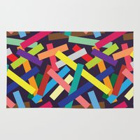 confetti Area & Throw Rugs featuring Confetti by Joe Van Wetering