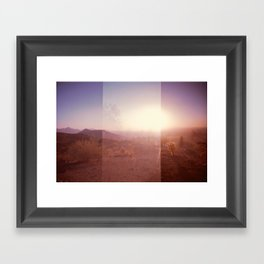 Valley of the Sun [lo-fi] Framed Art Print