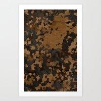 Modern Woodgrain Camouflage / Flecktarn Print Art Print