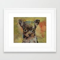 chihuahua Framed Art Prints featuring Chihuahua by Michael Creese