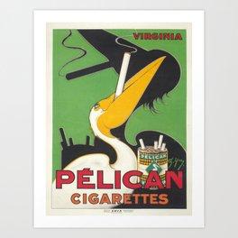 Vintage poster - Pelican Cigarettes Art Print