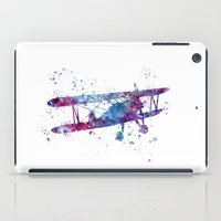 plane iPad Cases featuring Little Plane by Watercolorist