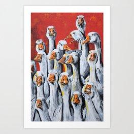 Gaggle of Geese Art Print