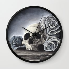 Death by the Rose Wall Clock