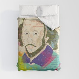 Portrait of William Shakespeare-Hand drawn Comforters