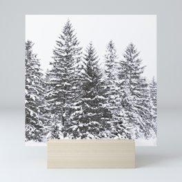 BLACK WINTER TREES Mini Art Print
