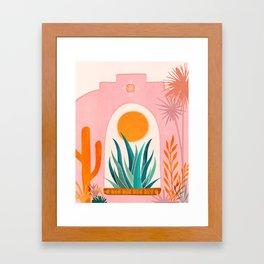 The Day Begins / Desert Garden Landscape Framed Art Print