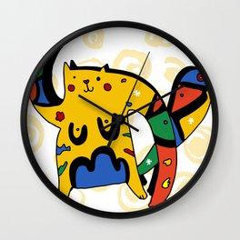 Joan Miro's Cat Wall Clock
