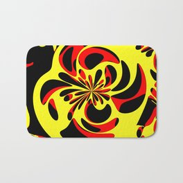 Yellow red and black Bath Mat