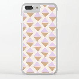 Lavender Ice Cream Clear iPhone Case
