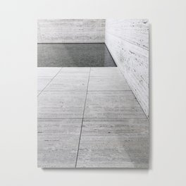 Marble + Pool (Barcelona Pavilion) Metal Print