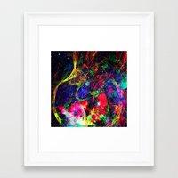 big bang Framed Art Prints featuring Big Bang by haroulita