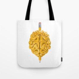 Pencil Brain Tote Bag