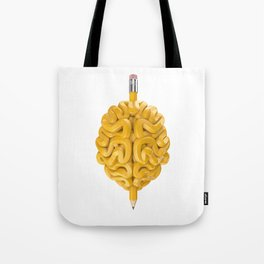 Pencil Brain Tote Bag