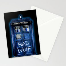 Tardis doctor who with Bad wolf graffiti iPhone 4 4s 5 5s 5c, ipod, ipad case Stationery Cards