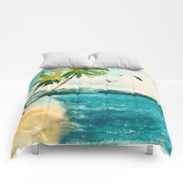 Palm Trees 1 Comforters