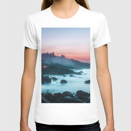 Light Sunrise Long Exposure Shoreline (Color) T-shirt