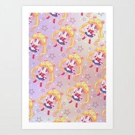 Sailor Moon Crystal Pattern Art Print