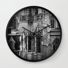 Manhattan Rooftops Wall Clock