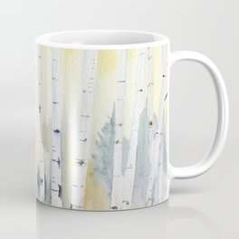 Birch Forest In The Morning Coffee Mug