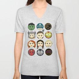 Avenger Emojis :) Unisex V-Neck