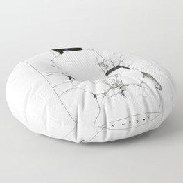 Nudegrafia - 001 Floor Pillow