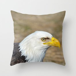 Alaskan Bald_Eagle Profile Throw Pillow