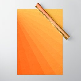 Shades of Sun - Line Gradient Pattern between Light Orange and Pale Orange Wrapping Paper