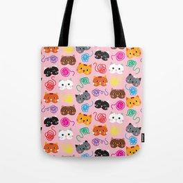 Cats Love String I Tote Bag