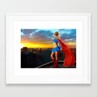 supergirl Framed Art Prints featuring Supergirl by Shana-e