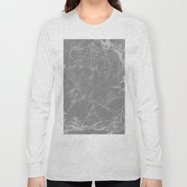Grey Marble Long Sleeve T-shirt