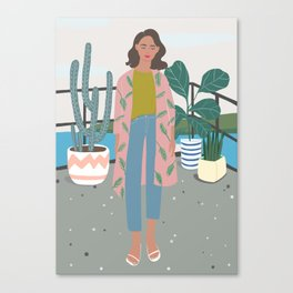 at MARI's Veranda art print, aloha, plant, girly art print Canvas Print
