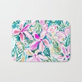 PLUMERIA PARADISE Tropical Floral Bath Mat
