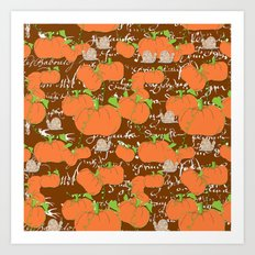 A French Pumpkin Patch Art Print