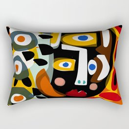 African Woman is dreaming in the sunrise Rectangular Pillow