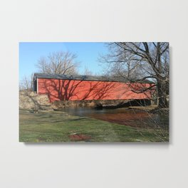 Kreidersville Covered Bridge Metal Print
