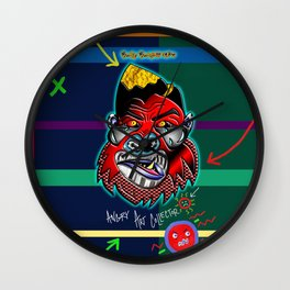 The Angry Art Collector Wall Clock