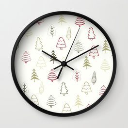 Winter Trees in Snowy Day Wall Clock