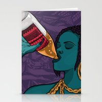 mcfreshcreates Stationery Cards featuring Drunk Off You by McfreshCreates