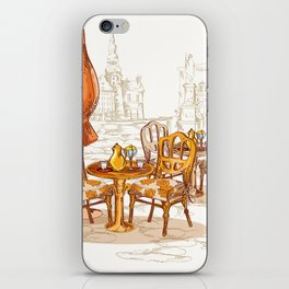 Street Cafe Sketch iPhone Skin
