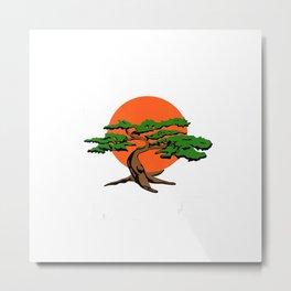 Vintage Miyagi-Do T-Shirt Karate Bonsai Tree T-Shirt Metal Print