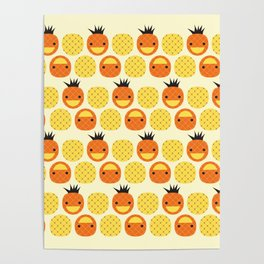 Dotty Pineapples II - Singapore Tropical Fruits Series Poster