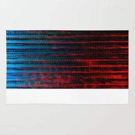Syntax (Red + Blue) Rug