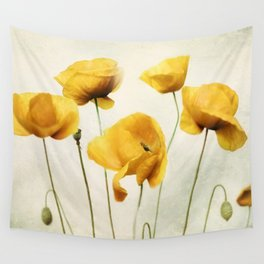 Yellow Poppies Wall Tapestry
