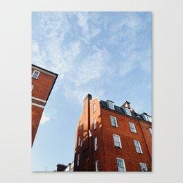 Classic London Brick House Canvas Print