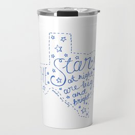 Stars at Night in blue Travel Mug