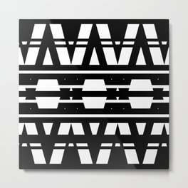 Black & White Geometric Design Metal Print