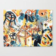 yellowredblueandblack Canvas Print