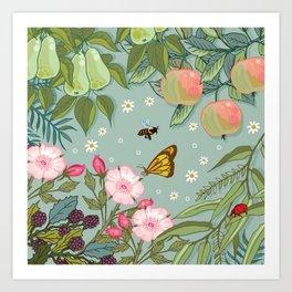 Orchard Fruits Art Print