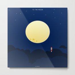 To The Moon Metal Print